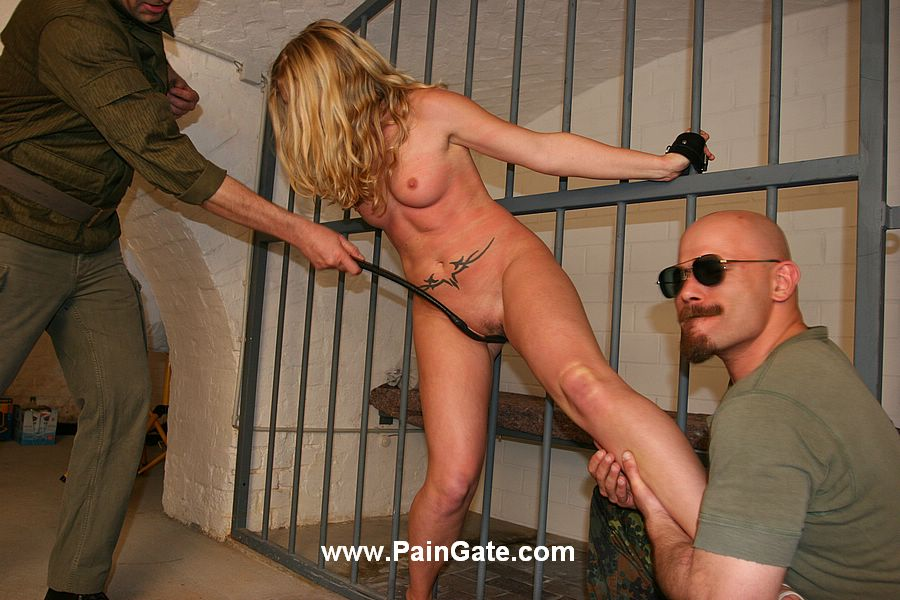 Extreme suspension and brutal pain for dildoed slaves 6